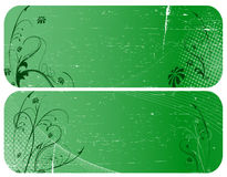 Two green grunge banners Royalty Free Stock Images