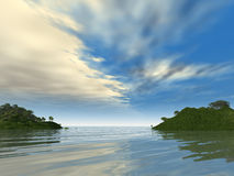 Two green islands Royalty Free Stock Image