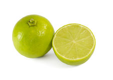 Two green lime Stock Image