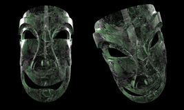Two green masks Royalty Free Stock Images