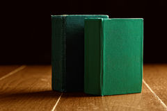 Two green old books Stock Photos
