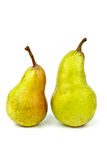 Two green pears Stock Photography
