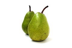 Two green pears Stock Images