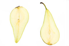 Two green pears Stock Image