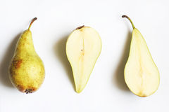 Two green pears Royalty Free Stock Photos