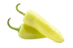 Two green pepper Stock Image