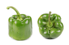 Two green peppers. Royalty Free Stock Photo