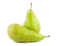 Two green ripe pears Royalty Free Stock Images