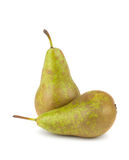 Two green ripe pears Royalty Free Stock Image