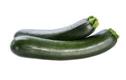 Two green squash   on white background Stock Images