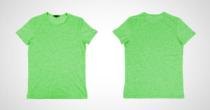 Two green tshirt Royalty Free Stock Images