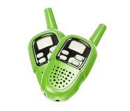 Two Green Walkie-talkie Royalty Free Stock Photography