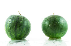 Two Green Watermelon Royalty Free Stock Photography