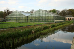 Two greenhouses Stock Photo