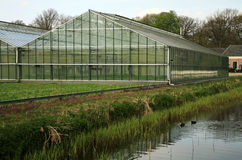 Two greenhouses Stock Photography