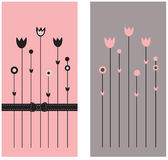 Two greeting cards. An excellent illustration for the book, wall-paper, packaging, design space Royalty Free Stock Photos