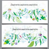 Two greeting cards Stock Photos