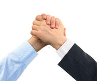 Two greeting hands Royalty Free Stock Images