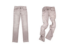 Two grey jeans Royalty Free Stock Images
