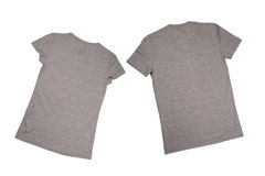 Two grey t-shirts Royalty Free Stock Images