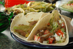 Two Grilled Fajitas Stock Image