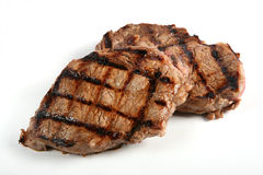Two Grilled Ribeye Steaks Royalty Free Stock Photo