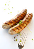 Two sausages Stock Photos