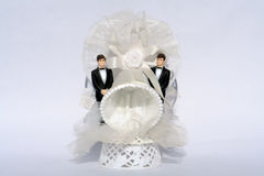 Two Grooms Gay Wedding Royalty Free Stock Photography