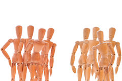Two group of dummies Royalty Free Stock Image