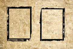 Two grunge frames on wall Royalty Free Stock Photography