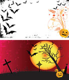 Two grunge Halloween frames. Royalty Free Stock Photo