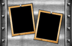 Two Grunge Photo Frames Stock Photos