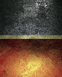 Two grunge plate. Template for design. copy space for ad brochure or announcement invitation, abstract background. Stock Photography