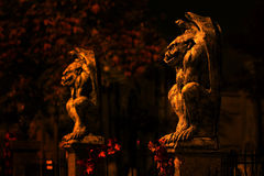 Two guardian gargoyles Stock Image