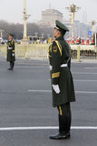 Two guards in Tiananmen square of China Royalty Free Stock Photos