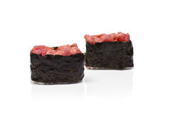 Two Gunkan Maki with Tuna Stock Images