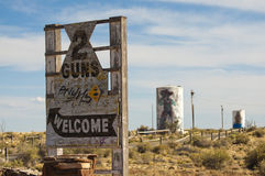 Two Guns Ghost Town along Route 66 Royalty Free Stock Images