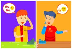 Two guy character calling on the phone with message box, Home, Be on the phone, They talked on the phone, Have a long conversation. On the phone, close friend vector illustration
