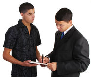 Two guys agreement Royalty Free Stock Photography