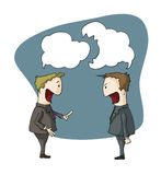 Two guys arguing. Illustration of two guys arguing Stock Images