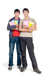 Two guys with books Royalty Free Stock Image