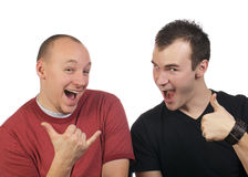 Two Guys Goofing Around Royalty Free Stock Photo