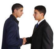 Two guys greeting Royalty Free Stock Photos