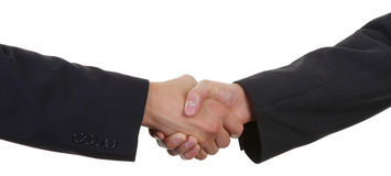 Two guys with a handshake Stock Photo