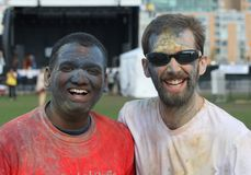 Two Guys after Holi Royalty Free Stock Photos