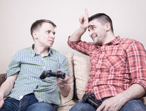 Two guys playing Stock Photography