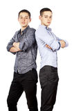 Two guys posing isolated Stock Photo
