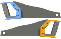 The two hacksaw Royalty Free Stock Photo