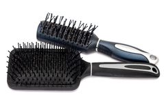 Two hairbrushes Stock Images
