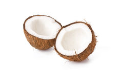 Two half coconut Royalty Free Stock Photography
